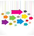 Creative colorful arrow background vector