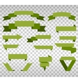 Big collection of design retro banners green vector