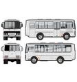 Urban suburban passenger mini-bus vector