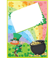Rainbow clover card vector