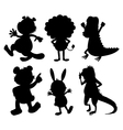 Silhouettes of wild animals vector