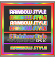 Set of original rainbow graphic styles for design vector
