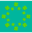 Four leaf clover abstract frame flat design vector