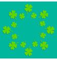 Four leaf clover abstract frame flat design vector