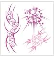 Flower design for tattoo vector