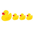 Duck family vector