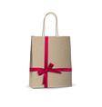 Empty shopping brown bag vector