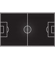 Football field on blackboard vector