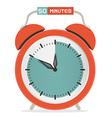 Fifty minutes stop watch - alarm clock vector