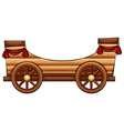 Improvised wooden bandwagon vector