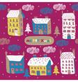 Township winter wallpaper vector