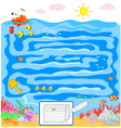 Kids sea maze game vector