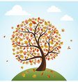 Fall season vintage banner global composition vector