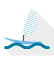 Boat surf vector