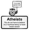 Atheist people vector