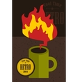 Retro cup with fire flame vector