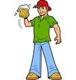 Cheers beer mug man vector
