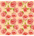 Summer background with delicate roses vector