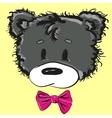 Cute cartoon teddy bear with a bow vector