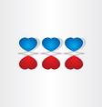Love valentine heart design vector