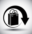 Shopping bag delivery simple single color icon vector