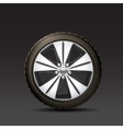 Car wheel black background vector