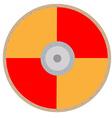 Orange viking shield vector