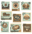 Postage stamps beer vector