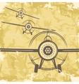Vintage grunge postcard design with plane vector
