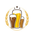 Iluustration of glasses with beer vector