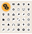 Computer menu icons set vector