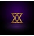 Gold metal symbol vector