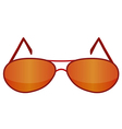 Glasses red 1 v vector