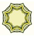 Ethnic round mandala ornamental frame vector