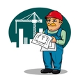 Engineer on construction site vector