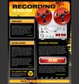 Sound recording studio brochure flyer detailed vector