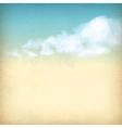 Vintage sky clouds old paper textured background vector
