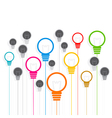 Creative colorful bulb background design vector