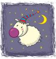 Sheep in a cap vector