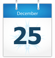 Calendar page for december 25 vector