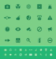 General healthcare color icons on green background vector