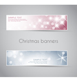 New year horizontal banners vector