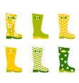 Spring wellington rain boots vector