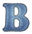Jeans alphabet denim letter b vector