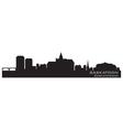 Saskatoon canada skyline detailed silhouette vector
