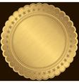 Golden blank label vector