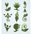 Ecology and green energy collection vector