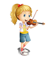 A girl playing with her violin vector