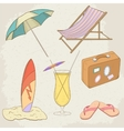 Summer holiday hand drawn icons vector