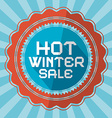 Hot winter sale retro blue background vector